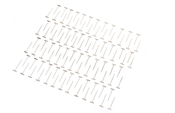 "Modelling pins Dubro 1.25"" (31.7mm) Nickel Plated T-Pins (100 Pack) T-DB253"